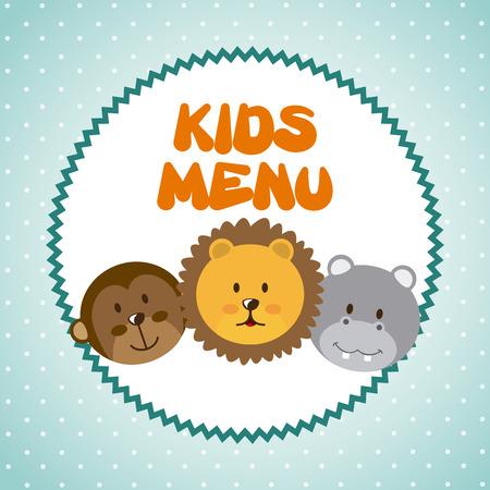 hypo: menu kids over blue background vector  illustration