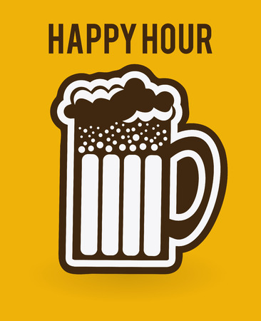 beer design over yellow background vector illustration
