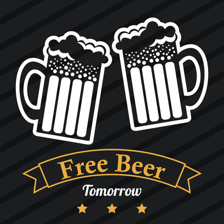 beer design over black background vector illustration Illustration