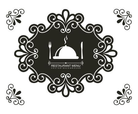 menu design over white  background vector illustration Illustration