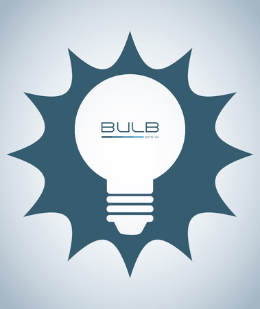 ingenious: bulb design over blue background vector illustration