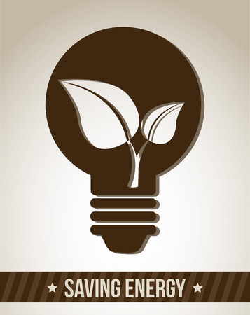 ingenious: bulb design over gray background vector illustration