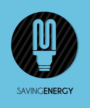 smart goals: bulb design over blue background vector illustration