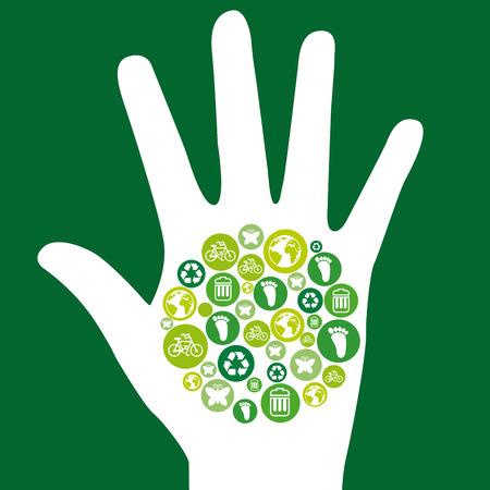 enviromental: dise�o ambiental sobre fondo verde ilustraci�n vectorial
