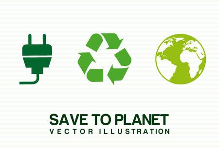 enviromental: enviromental design over white background vector illustration