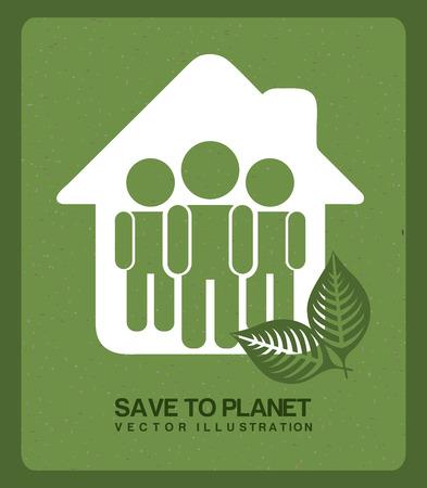 enviromental: enviromental design over green background vector illustration Illustration