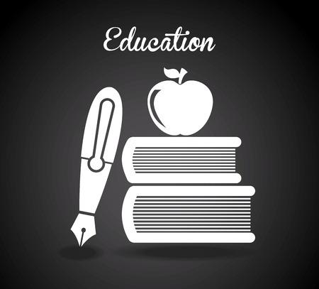 graduation design over black background vector illustration