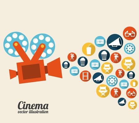 cinema design over white background vector illustration Vector