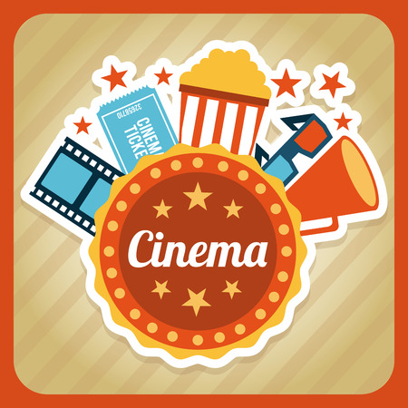 cinema design over beige background vector illustration Vector