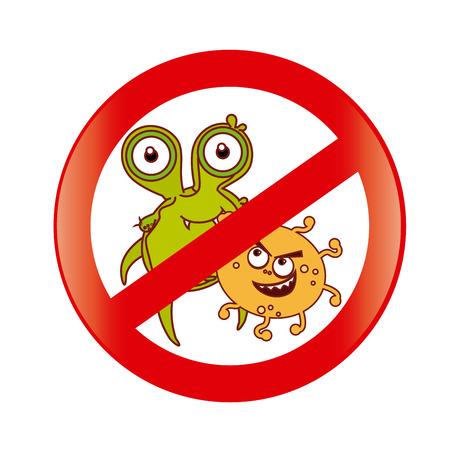 bacillus: Bacteria design over white background, vector illustration Illustration
