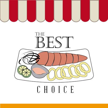 nutritive: Food design over white background, vector illustration Illustration