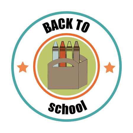 crayola back to school design over white background vector illustration illustration