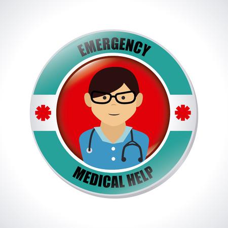 cartoon medical: Medical design over white background, vector illustration Illustration