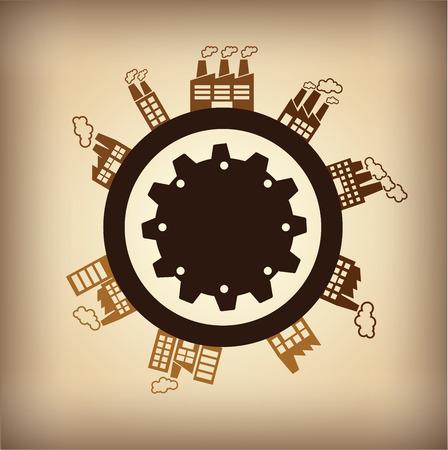 industrial design: industrial design over gray background vector illustration