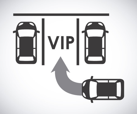 vip area: parking signal over  gray background vector illustration