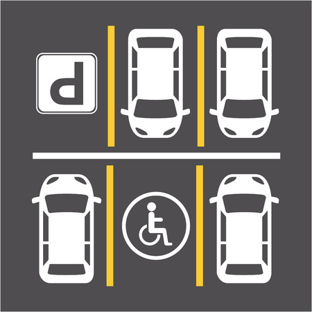 parking signal over gray  background vector illustration