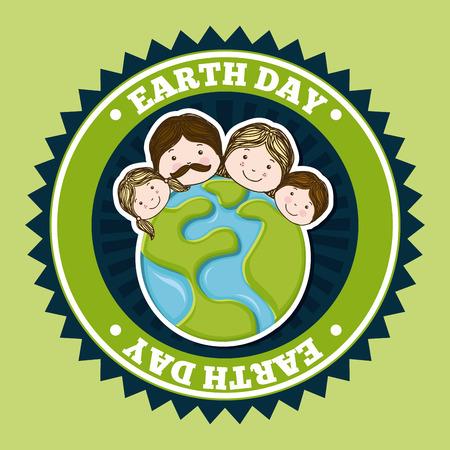 enviromental: dise�o ambiental sobre el verde fondo ilustraci�n vectorial