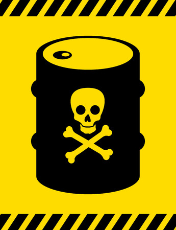 caution label over yellow  background vector illustration Vector