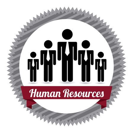 executive search: human resources over white  background vector illustration