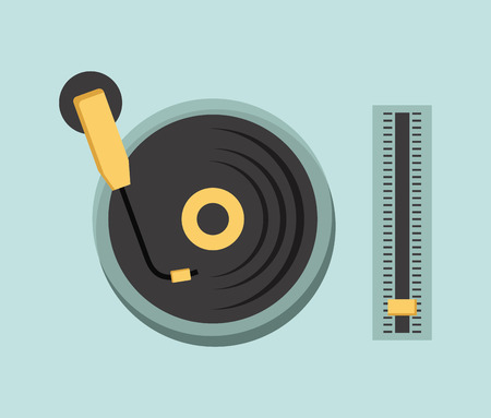music icon over blue background vector illustration