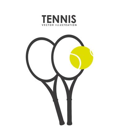 tennis design over white background vector illustration Vector