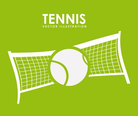 tennis design over green background vector illustration Vector