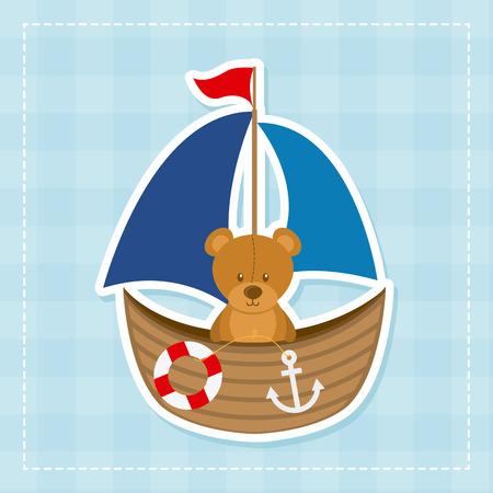 Conception de bébé sur fond bleu illustration vectorielle Banque d'images - 30666593