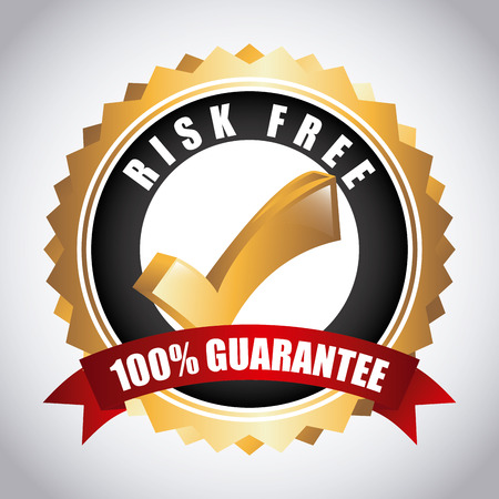 seal stamp: risk free over gray background vector illustration