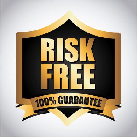 risk free over gray background vector illustration Vector