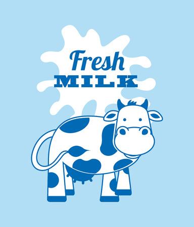 pasteurization: milk design over blue background vector illustration