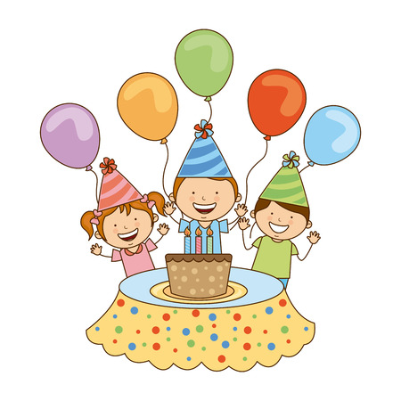 birthday design over white background vector illustration Ilustração
