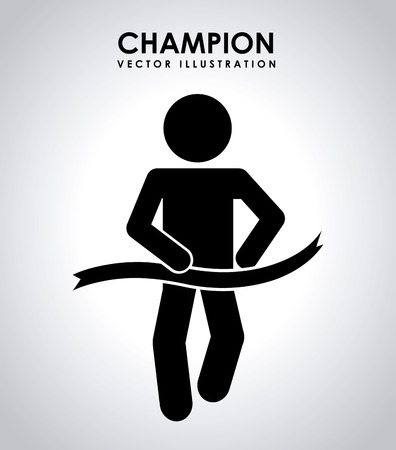 ribon: sport design over gray background vector illustration