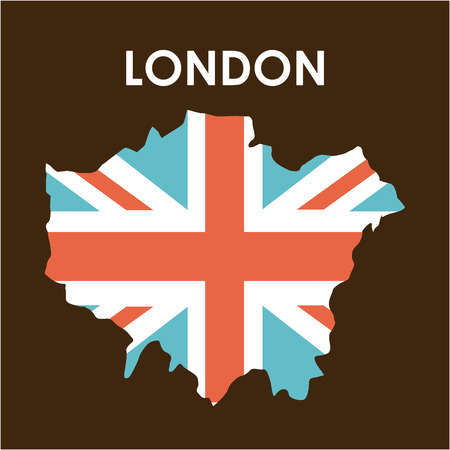 london design over brown background vector illustration Stock Vector - 30666849