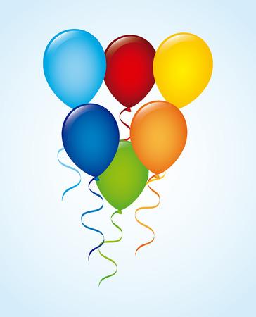 balloons design over blue background vector illustration Vector