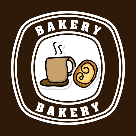 baking dish: bakery desin over brown backround vector illustration
