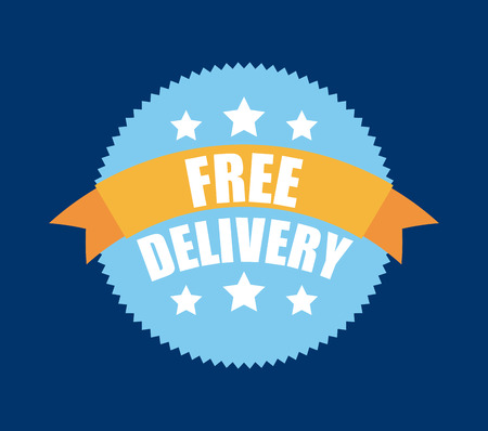 free shiping: delivery design over blue background vector illustration