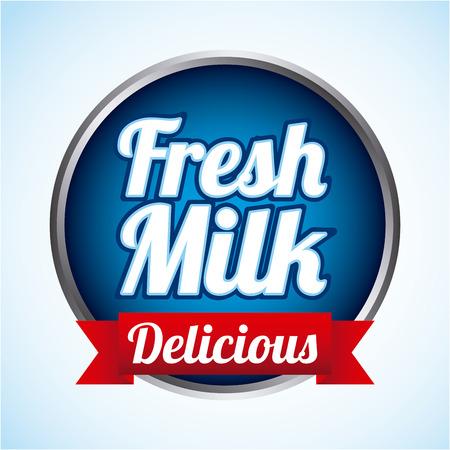 pasteurization: milk design over blue  background vector illustration Illustration