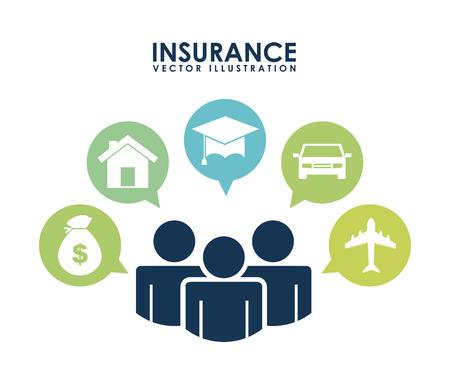 house insurance: insurance design over white background vector illustration