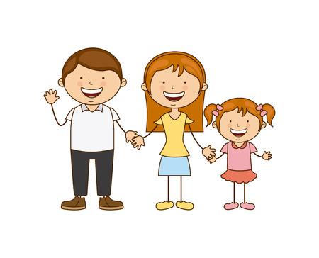 La conception de la famille sur fond blanc illustration vectorielle Banque d'images - 30667179
