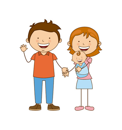 babby: family design over white background vector illustration