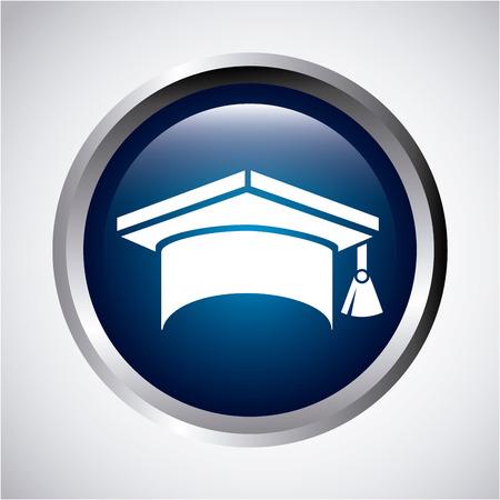 graduated: graduation design over  gray background vector illustration Illustration