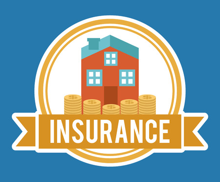 insurance design over blue background vector illustration Vector