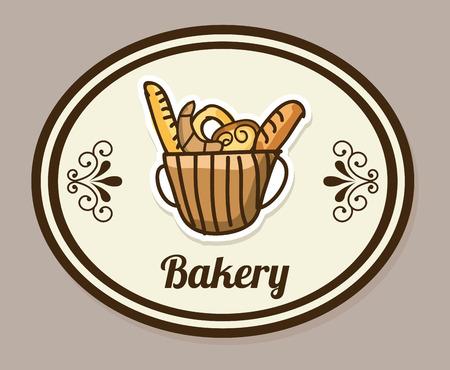 bakery desin over gray backround vector illustration Vector