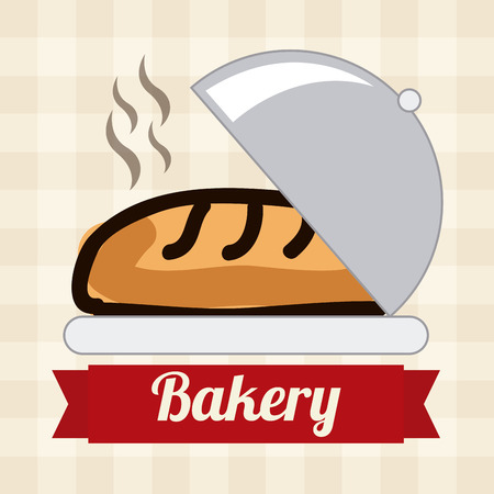baking dish: bakery desin over pattern backround vector illustration