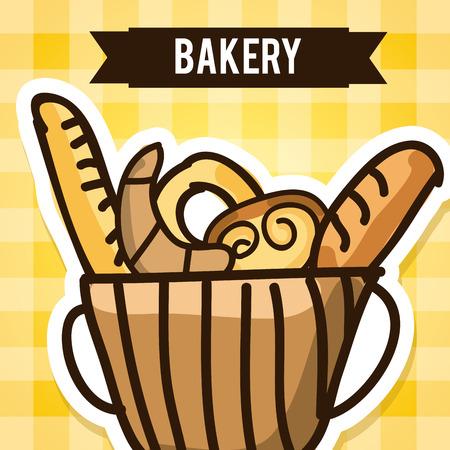 bakery desin over pattern backround vector illustration Vector