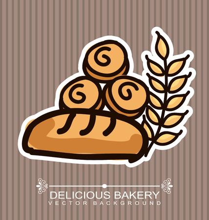 bakery desin over lineal backround vector illustration Vector
