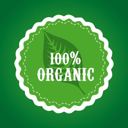 enviromental: eco design over   green background vector illustration Illustration