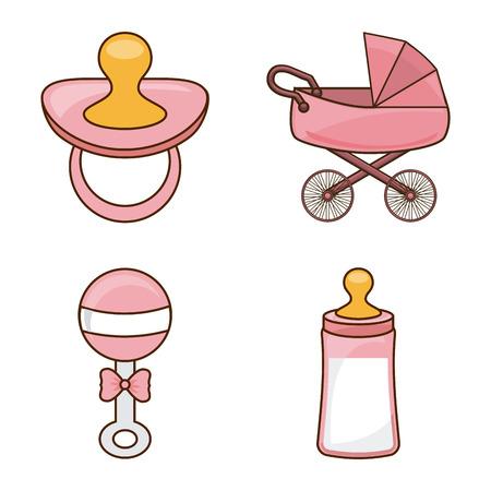 diseño de bebé sobre fondo blanco ilustración vectorial Ilustración de vector