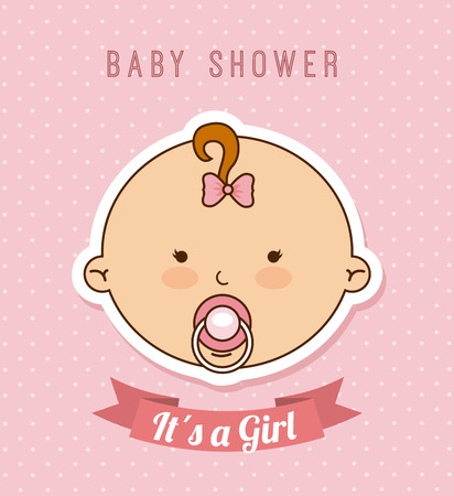 baby design over pink background vector illustration Vector