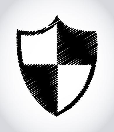 protected database: sistema de seguridad m�s gris de fondo ilustraci�n vectorial